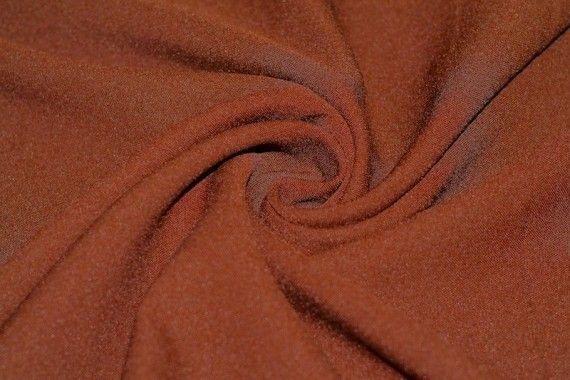 Tissu Burlington infroissable Uni Rouille -Coupon de 3 mètres