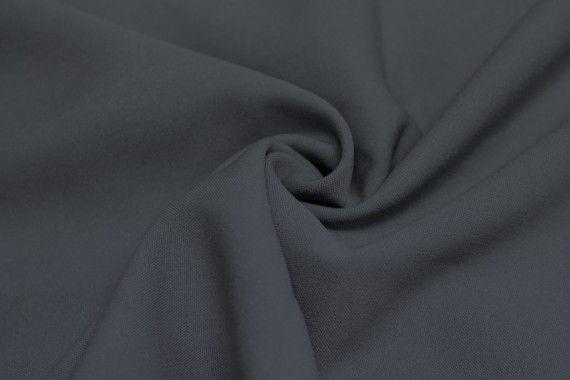 Tissu Burlington infroissable Uni Gris Foncé -Coupon de 3 mètres