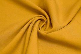 Tissu Burlington infroissable Uni Safran -Coupon de 3 mètres