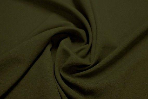 Tissu Burlington infroissable Uni Kaki -Coupon de 3 mètres