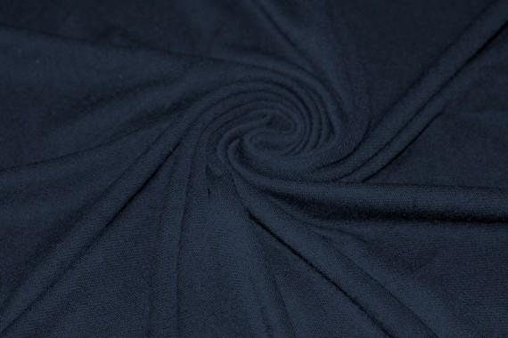 Tissu Molleton Marine -Coupon de 3 mètres