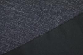Tissu Milano Atlanta Chiné Bleu -Coupon de 3 mètres