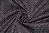 Tissu Milano Atlanta Polygone Violet/Gris -Au Mètre