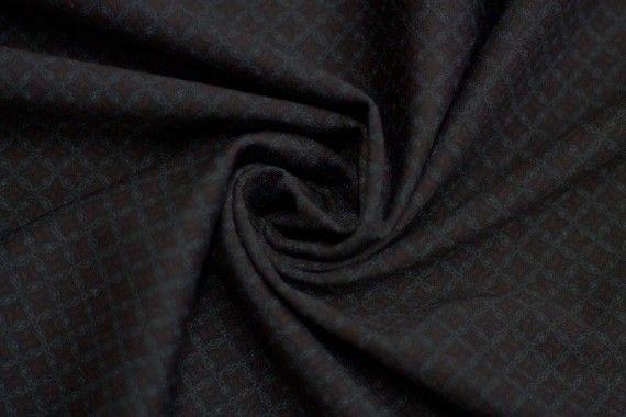 Tissu Milano Atlanta Cravate Rouge/Gris -Coupon de 3 mètres