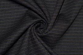 Tissu Milano Atlanta Stripe Bleu/Gris -Coupon de 3 mètres