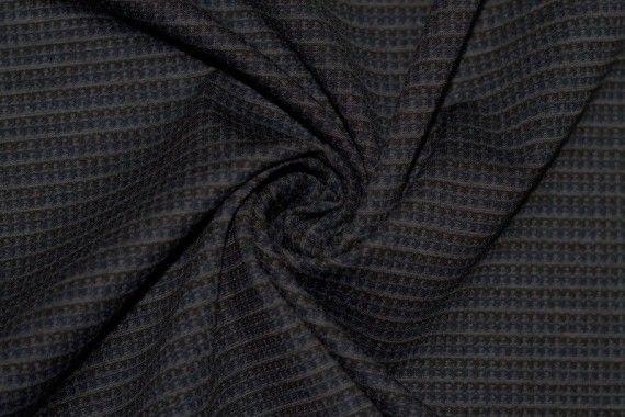 Tissu Milano Atlanta Stripe Bleu/Gris -Au Mètre