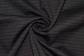 Tissu Milano Atlanta Stripe Marron/Gris -Coupon de 3 mètres
