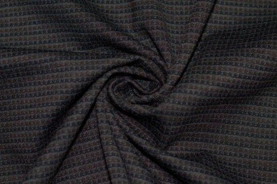 Tissu Milano Atlanta Stripe Marron/Gris -Au Mètre