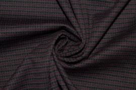 Tissu Milano Atlanta Stripe Bordeaux/Gris -Coupon de 3 mètres
