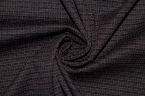Tissu Milano Atlanta Stripe Bordeaux/Gris -Au Mètre