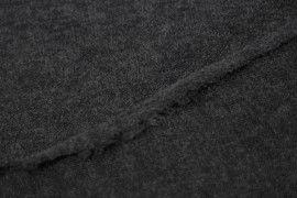 Tissu Lainage Pull Angora Gris Foncé -Au Mètre