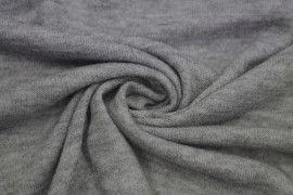 Tissu Lainage Pull Angora Gris Clair -Au Mètre