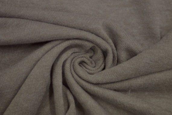 Tissu Lainage Pull Angora Beige -Au Mètre