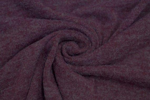 Tissu Lainage Pull Angora Bordeaux -Au Mètre