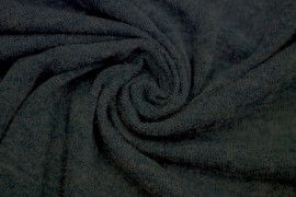 Tissu Lainage Pull Angora Bleu Canard -Au Mètre
