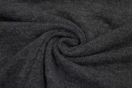 Tissu Lainage Pull Angora Gris Foncé -Coupon de 3 mètres