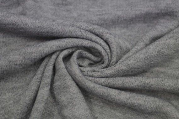 Tissu Lainage Pull Angora Gris Clair -Coupon de 3 mètres