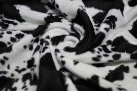 Fourrure synthétique Vache Noir/Blanc