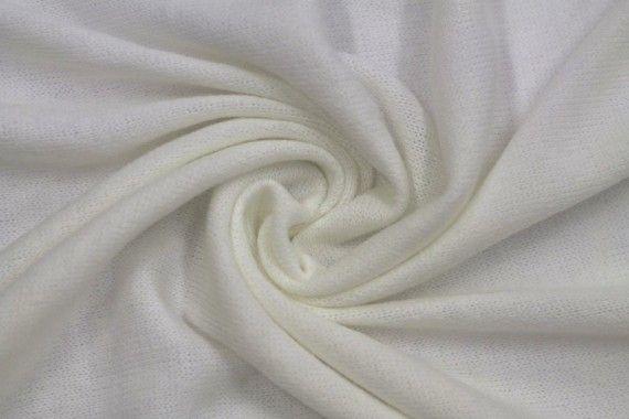 Tissu Lainage Pull Angora Ecru -Coupon de 3 mètres