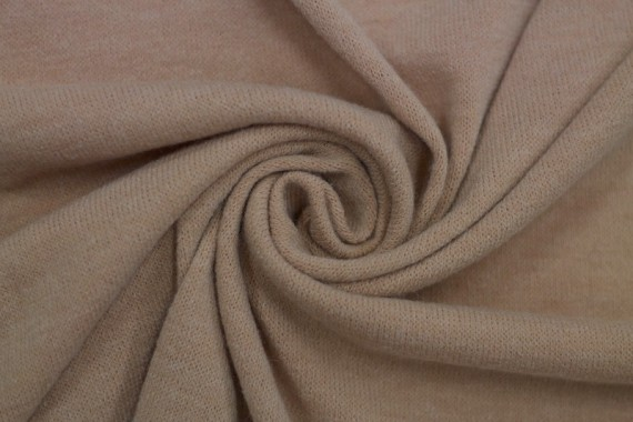 Tissu Lainage Pull Angora Nude -Coupon de 3 mètres