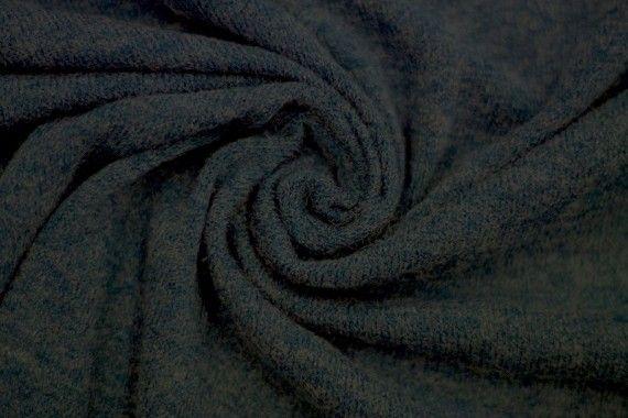 Tissu Lainage Pull Angora Bleu Canard -Coupon de 3 mètres