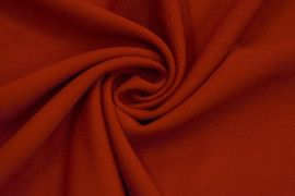 Tissu Maille Piquee Rouge -Au Metre