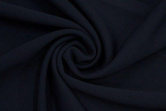 Tissu Maille Piquée Marine -Coupon de 3 mètres