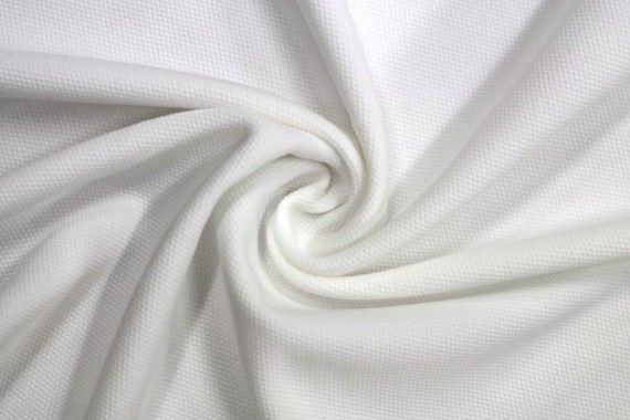 Tissu Maille Piquée Ecru -Coupon de 3 mètres