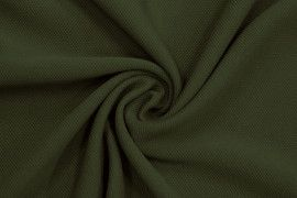Tissu Maille Piquée Kaki -Coupon de 3 mètres
