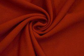 Tissu Maille Piquée Rouge -Coupon de 3 mètres