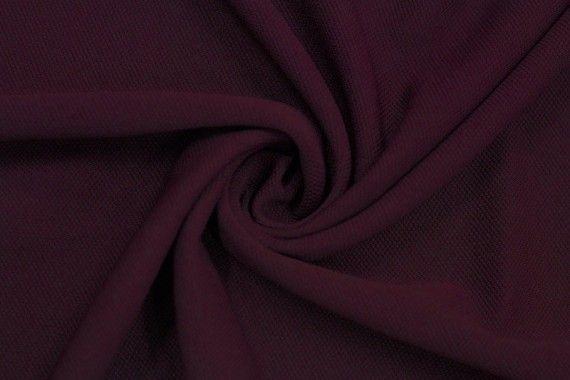 Tissu Maille Piquée Bordeaux -Coupon de 3 mètres