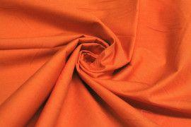 Tissu Popeline Unie Orange de Qualité, Coupon 3 mètres