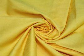 Tissu Popeline Unie Jaune de Qualité, Coupon 3 mètres