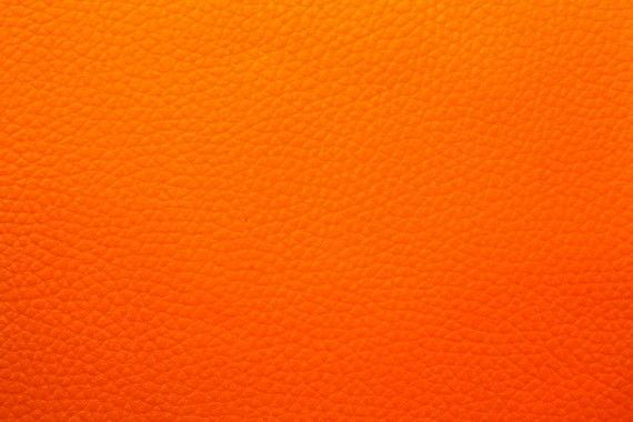 Tissu Simili Cuir Orange -Au Mètre