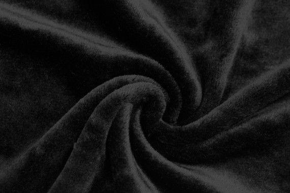 Tissu Micropolaire Uni Noir -Au Mètre