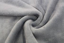 Tissu Micropolaire Doudou Uni Gris Souris -Au Mètre