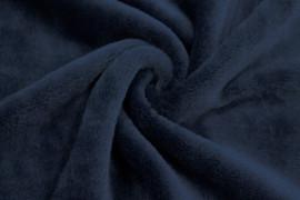 Tissu Micropolaire Doudou Uni Marine -Au Mètre