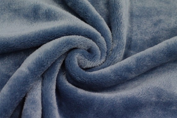 Tissu Micropolaire Uni Bleu Orage -Au Mètre