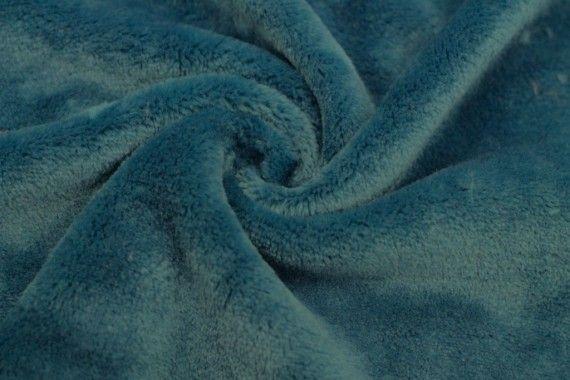 Tissu Micropolaire Uni Bleu Canard -Au Mètre