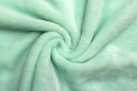 Tissu Micropolaire Doudou Uni Vert d'Eau -Au Mètre