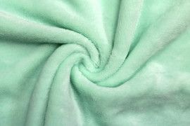 Tissu Micropolaire Uni Vert d'Eau -Au Mètre