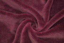 Tissu Micropolaire Doudou Uni Bordeaux -Au Mètre