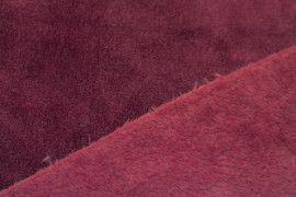 Tissu Micropolaire Uni Bordeaux -Au Mètre