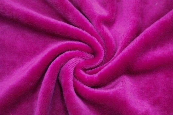 Tissu Micropolaire Doudou Uni Fuchsia -Au Mètre