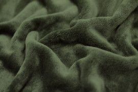 Tissu Micropolaire Doudou Uni Kaki -Au Mètre