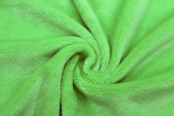 Tissu Micropolaire Doudou Uni Anis -Au Mètre