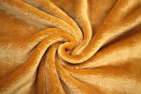 Tissu Micropolaire Doudou Uni Camel -Au Mètre