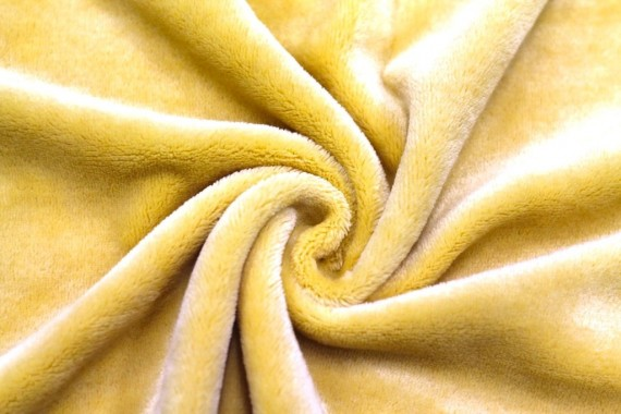 Tissu Micropolaire Doudou Uni Moutarde -Au Mètre