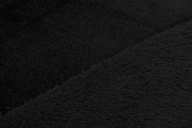 Tissu Micropolaire Doudou Uni Noir -Coupon de 3 mètres