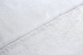 Tissu Micropolaire Doudou Uni Blanc -Coupon de 3 mètres